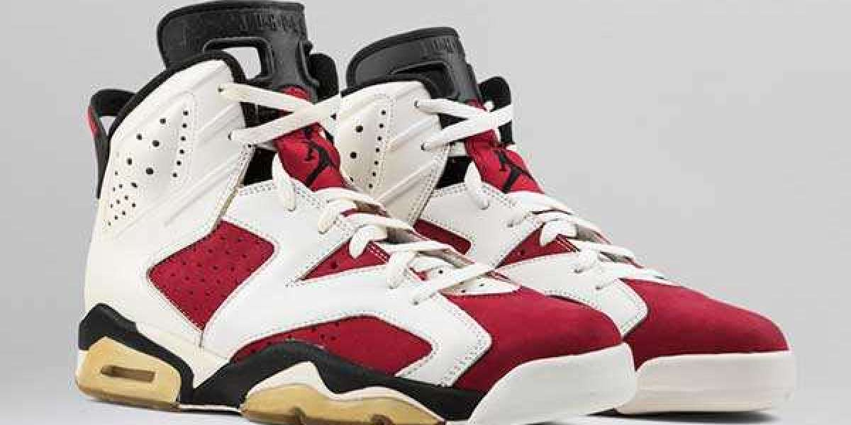 "Air Jordan 6 ""Carmine"" White/Black-Carmine CT8529-106 will be released in January 2021"