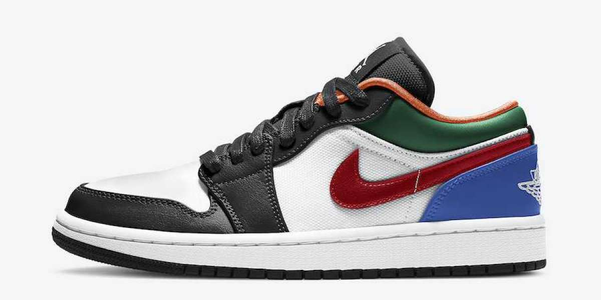 "CZ4776-101 Air Jordan 1 Low ""Multi-Color"" Will Be Put On Sale Recently"