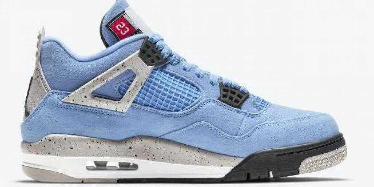 Where to Buy Air Jordan 4 Retro University Blue Basketball Sneakers