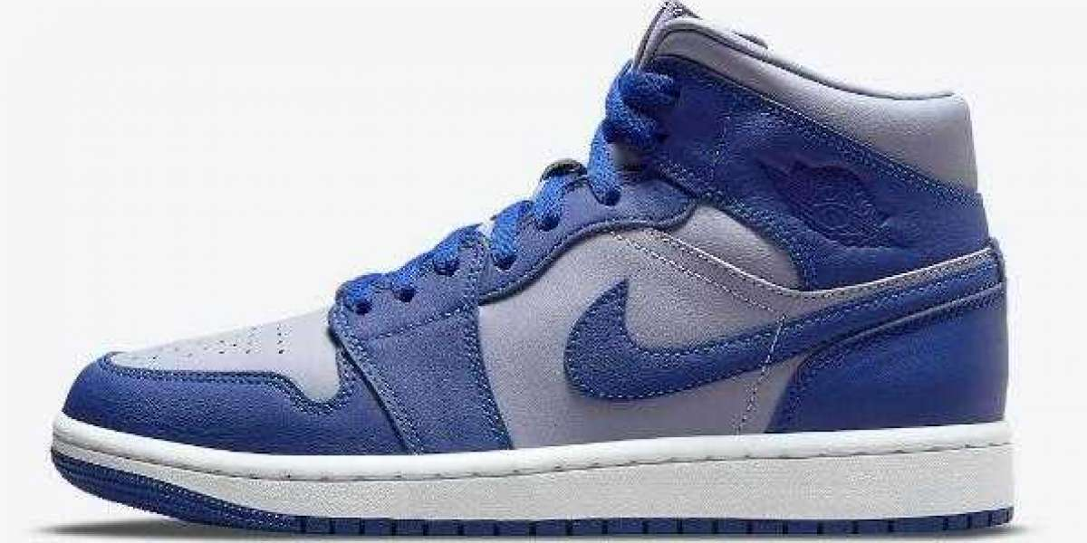 THE AIR JORDAN 1 MID RELEASING IN A NEW BLUE AND GREY THEME