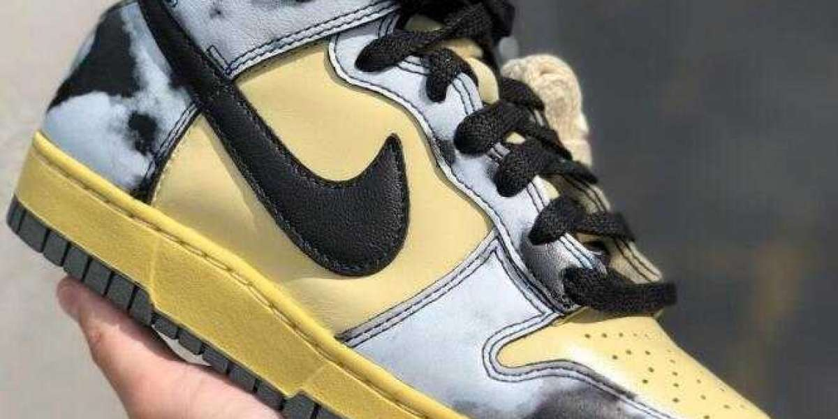 Summer Drop Nike Dunk High Acid Wash Releasing With Yellowed Leather