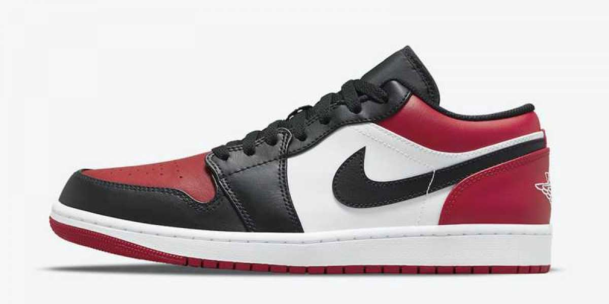 "553558-612 Air Jordan 1 Low ""Bred Toe"" Fast shipping!"